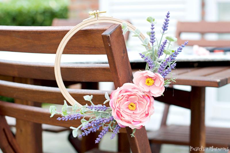Spring lavender wreath diy