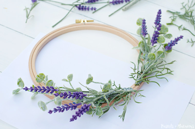lavender wreath diy tutorial