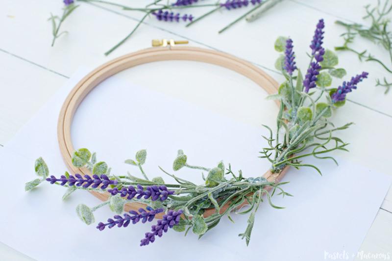 lavender wreath diy tutorial