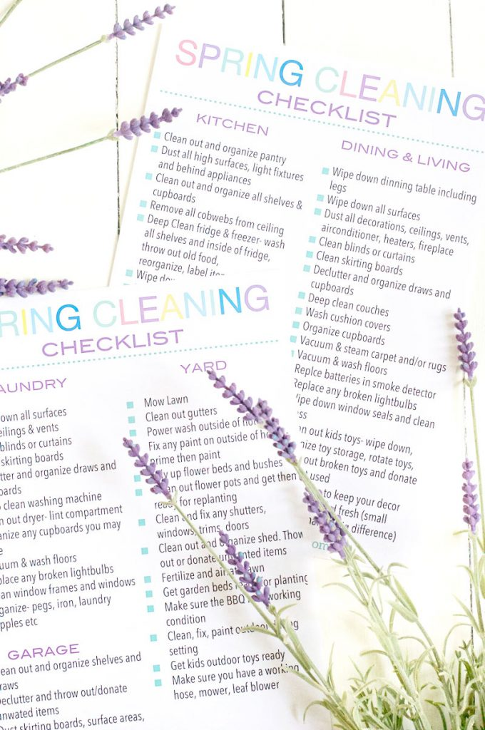 The Ultimate Spring Cleaning Checklist Printable  Pastels And Macarons