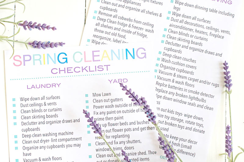 The Ultimate Spring Cleaning Checklist to deep clean your home.