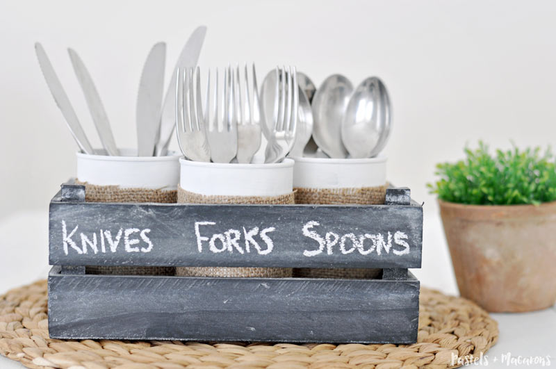 Diy Tin Can Silverware Caddy A 10 Minute Craft Idea For