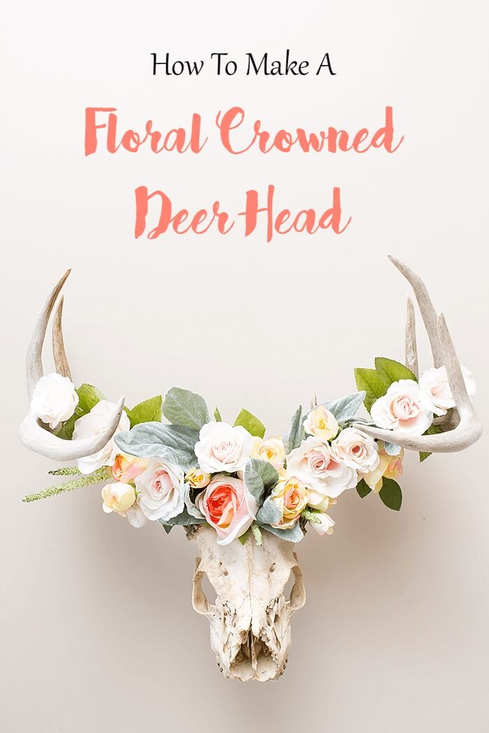 DIY floral crown using artificial flowers.
