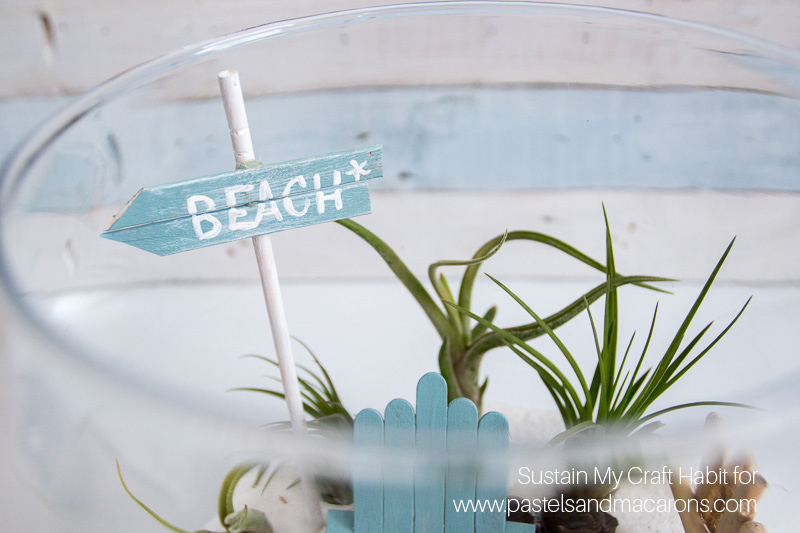 beach inspired diy fairy garden idea