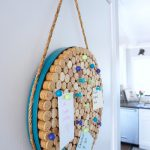 The blue frame makes this DIY cork board look a little coastal.