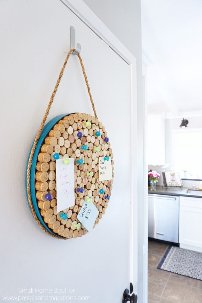 Hold notes on your DIY cork board with fun pushpins.