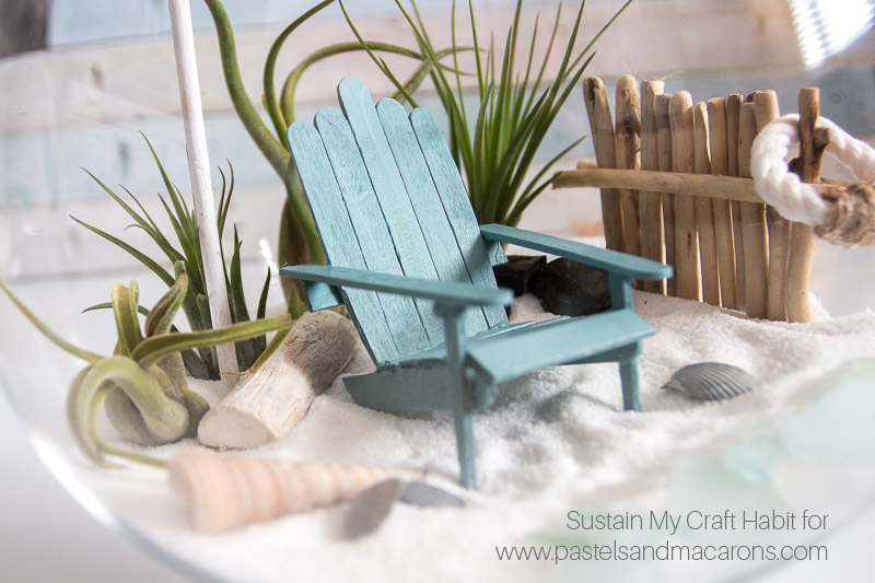beautiful beach inspired diy fairy garden