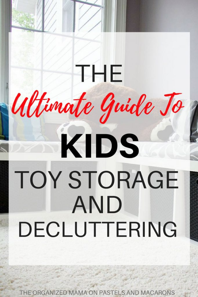 Ideas for kids toy storage and decluttering. Handy tips and solutions using Ikea and other storage methods.