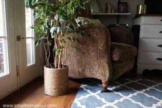 Rope Planter Basket on DIY Cork Board post.