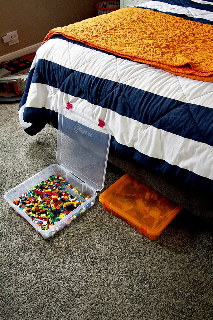 legos under bed kids toy storage ideas
