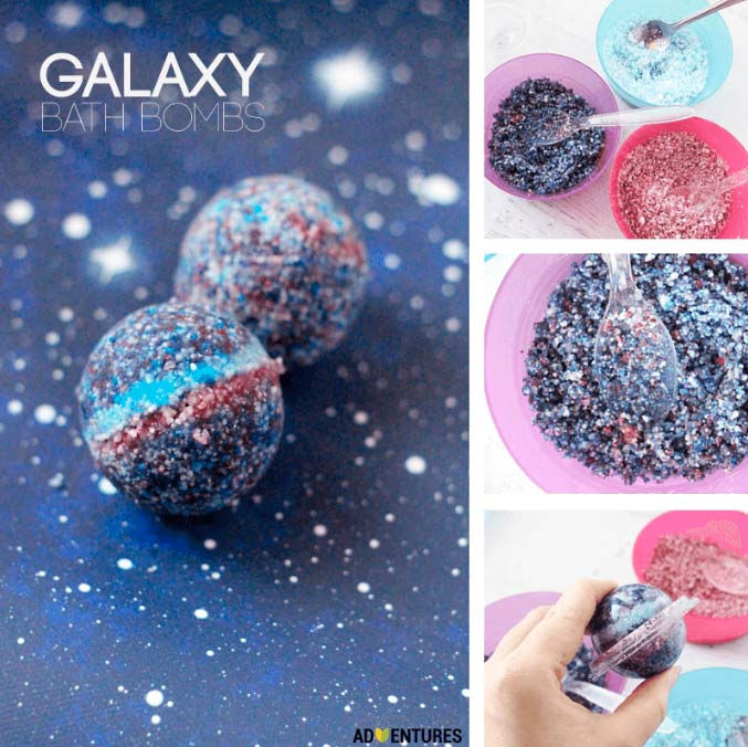 These DIY bath bombs are fabulous, expecially this galaxy bath bombs which we absolutely love