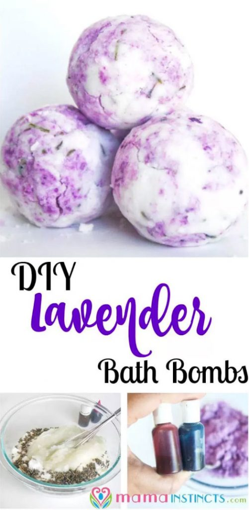 Lavender DIY bath bombs and 17 more that will inspire yopu to make your own homemade bath bombs