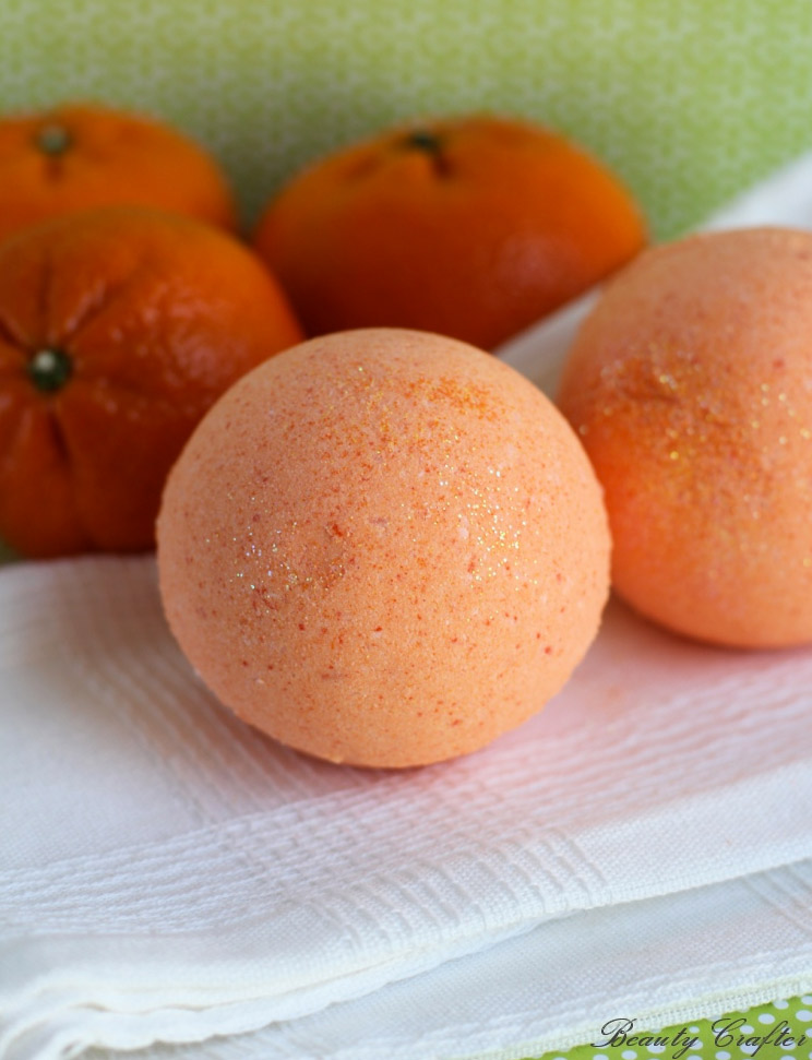 Orange DIY bath bombs