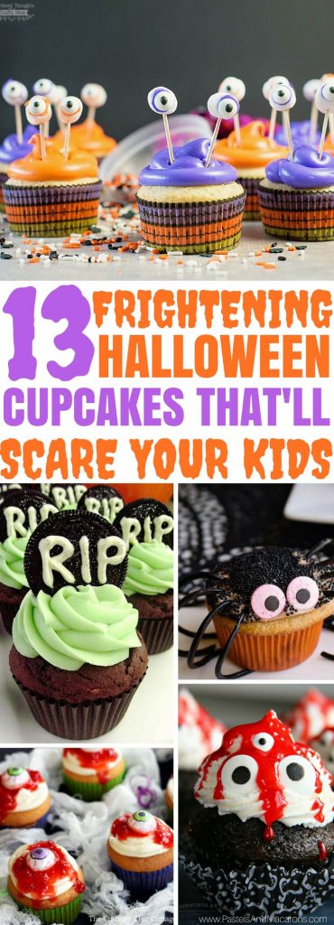 Wow! These are The BEST and cutest easy to make Halloween Cupcakes for kids! Such great ideas. I love the eyeballs, spiders and skeletons. My kids will love making these with me. So, so cute!
