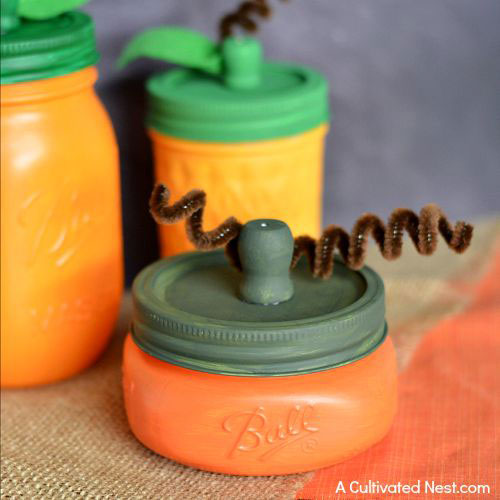 This has to be the most adorable craft! So many beautiful mason jar crafts for falls. Love all of these ideas.