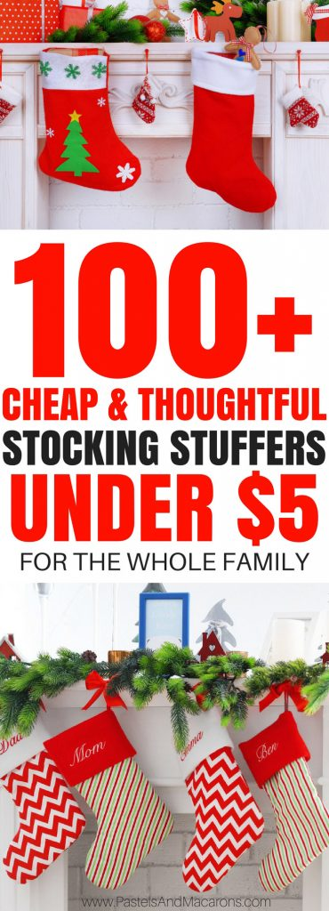A HUGE range of cheap stocking stuffers for Christmas for men, for women, for children, for pets, for teen, for teens, for girls, for boys, for baby and for anyone else in your life! So many great ideas and all for under $5!! INCLUDES a FREE Printable Checklist! #stockingstuffers #christmas #christmasstockingstuffers #stockingfillers