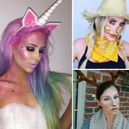 Amazing last-minute easy Halloween makeup ideas! I love these easy tutorial makeup tutorials for Halloween! #halloweenmakeup #makeup #halloween