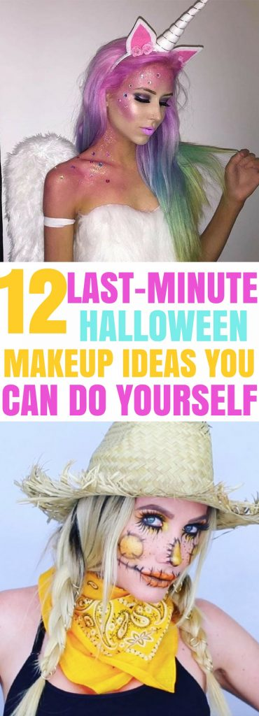 Amazing last-minute easy Halloween makeup ideas! I love these easy halloween makeup tutorials for women and teens #makeup #halloween