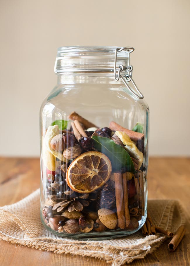 Nothing can beat traditional potpourri to help make your home smell like Fall!