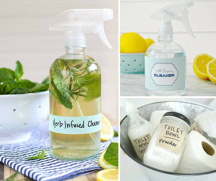 I love these homemade non-toxic home-made cleaning products